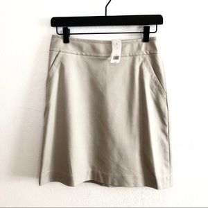 Banana Republic khaki a-line skirt